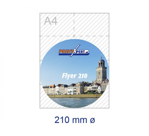 210 mm rond flyers